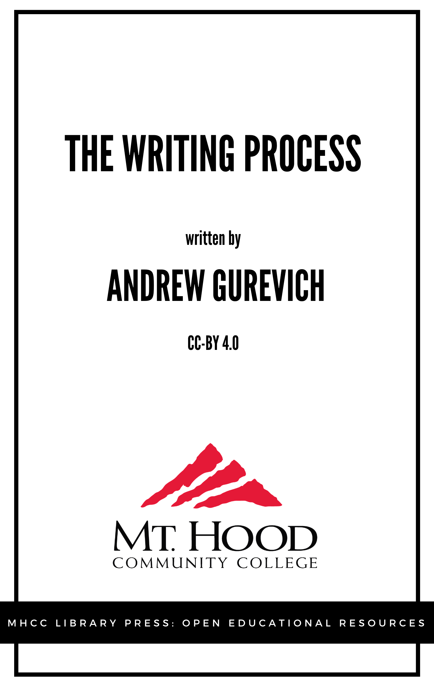 Cover image for The Writing Process