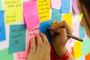 Sticky Notes on a Dry Erase Board